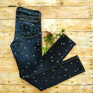 Rag & Bone Paint Splatter Skinny Jeans 31x29 USA